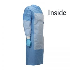 surgical gown reinforced